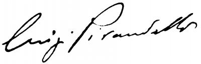 Firma Luigi Pirandello - orig